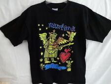 Santana World Tour 1990s All Sport Label Black Cotton T-Shirt Men's L 44 Htf Nm