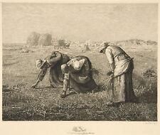 Jean-Francois Millet Reproduction: Les Glaneuses (The Reapers) - Fine Art Print