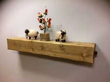 Rustic Reclaimed Wood Floating Shelf With Two Drawers Mantel Beam Vintage