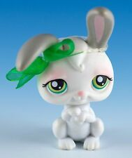 Littlest Pet Shop Rabbit #211 White and Gray With Green Eyes