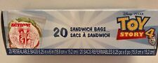 Disney Toy Story Sandwich Bags 6.25 x 6 Resealable Bags Favor Treat Bags 20 NEW