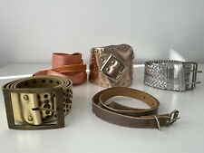 Assorted Belts - Metallic finish Wrap Buckle Vintage Waist Retro