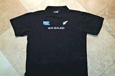 Wild Kiwi New Zeland Short Sleeve Polo Golf  Shirt Cotton Blend Black 2XL