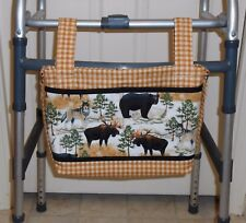 Handmade Travel Walker Tote Shoulder Purse Wheelchair Shopping Cart Stroller Bag
