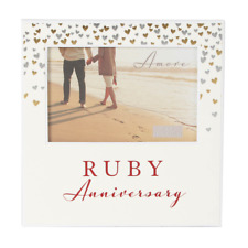 40th Ruby Wedding Anniversary Gift Photo Frame WG92940