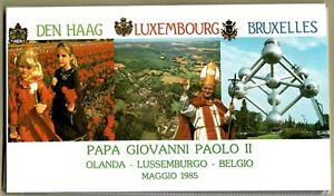 Album Sammelmappe FDC Papst Johannes Paul II Ersttagsbriefe Vatikan Belgien 1985