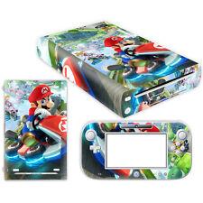 Mario Kart Cover Decal Skin Sticker for Nintendo Wii U Console & Controller