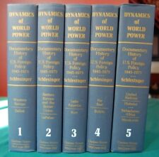 Dynamics of World Power 5 Vols Schlesinger Chelsea House 1973 US Foreign Policy