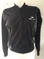 Women's Adidas Adicolor Tracksuit Top Size 14  Black Jacket
