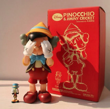 KAWS x Disney x Medicom Toy Pinocchio & Jiminy Cricket Set OriginalFake 2010
