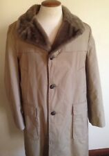 Woolrich Arctic Parka Vented Trench Coat Mens Large Shearling Buttons