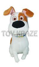 "THE SECRET LIFE OF PETS PLUSH! SMALL MAX WHITE TAN BEAGLE DOG SOFT DOLL 8"" NWT"