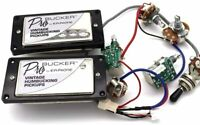 Set ProBucker Humbucker Pickup with Pro Wiring Harness for Epiphone LP&SG Chrome