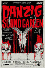 Danzig and Sound Garden concert poster Celebrity Theater Phoenix canvas print