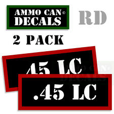 .45 LC Ammo Decal Sticker Set bullet ARMY Gun safety Can Box Hunting 2 pack RD