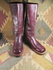 Vintage Campus Fashion Boots Sz 9M Square Toe Soft Supple Leather MADE IN USA