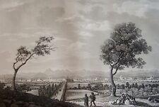 SALATHÉ : La ville de TARBES, Hautes Pyrénées. D'apres MELLING. Aquatinte 1826