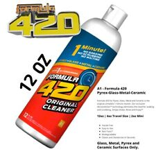 Formula 420 Cleaner 12oz Pipe Pyrex Metal Glass Ceramic 1 Minute Perfect Clean