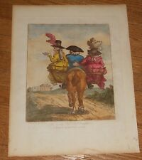 1808 Antique Caricature Print by Henry Bunbury from Annals of Horsemanship