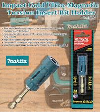 Impact Gold Insert Bit Holder Neodymium Ultra Magnetic Torsion Two Piece Design