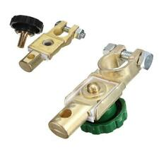 2 Car Battery Terminals Clamps Heavy Duty Stud Type 17mm Cable Positive Negative
