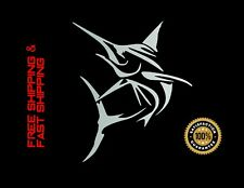 MARLIN FISH, Car Decal, Sticker, Vinyl, SILVER 4''