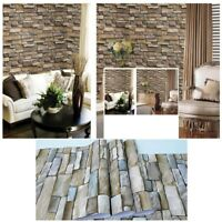 3D Wall Paper Brick Stone Sticker Self-adhesive PVC Panels Home TV Background