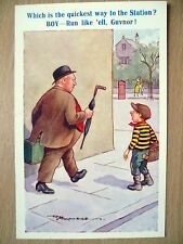 Comic Postcard- Which is the Quickest Way to the Station? Boy: Run Like..No.4169
