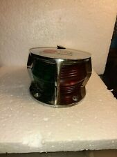 VINTAGE ATTWOOD CHROME BOAT RED & GREEN NAVIGETION LIGHT UNUSED