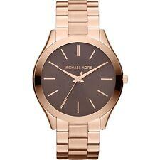 MICHAEL KORS MK3181 Slim Runway Rose Gold Tone Stainless Steel Wrist Watch NEW