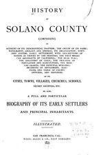 1879 SOLANO County California CA, History and Genealogy Ancestry Family DVD V95