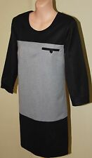 Womens Black and Grey Shift Dress BNWT - Great Plains London - Size XS