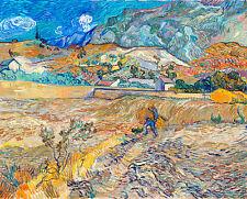Landscape at Saint-Remy by Vincent van Gogh Art Print