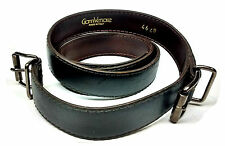 Gianni Versace Double Buckle Leather Belt Sizes 30in 31in 32in Charcoal Gray Vtg
