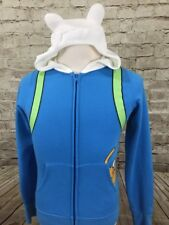 Adventure Time Finn Costume Jake Pocket Licensed Juniors Zip Hoodie Adult Medium