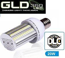 20W 180 degree LED Canopy Corn Retrofit Light, Lamp E39 Mogul base 5000K UL DLC
