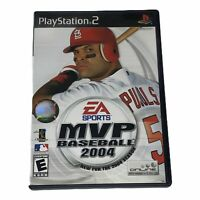 MVP Baseball 2004 Sony PlayStation 2 PS2 Complete w/Manual Tested Works CIB