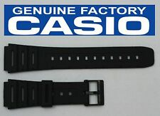 CASIO CA-53W 20mm Original Black Rubber Watch BAND Strap  W-520U W-720 CA-61W