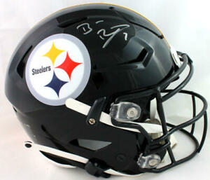 Ben Roethlisberger Signed Steelers F/S SpeedFlex Helmet - Fanatics Auth *Silver