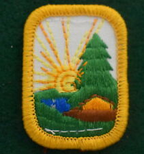 BACKYARD CAMPER 1960-62 ONLY Girl Scout Badge BBQ Camping Multi=1 Ship Chrg