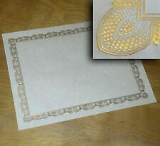 Gold Foil Embossed Certificates Blank 8.5 x 11 60# text white parchment (12)