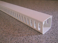 """FGS 12 NEW 2"""" X 2"""" X 72"""" OPEN SLOT WIRE DUCT/CABLE RACEWAY +Cover -White"""
