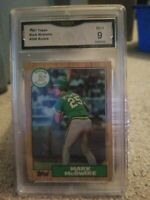 1987 Topps #366 Mark McGwire Oakland A's RC Rookie 9 MINT GMA