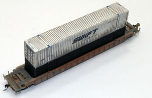 Custom Walthers Intermodal Well Car w/53' Container Load TTX, Photo Etch Det. HO