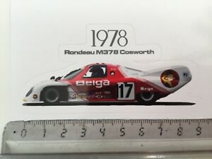 Sticker / Aufkleber, Rondeau Ford M378, #17 Belga, 24h Le Mans 1978