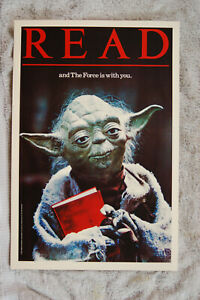 Yoda READ promotional poster 1983 Star Wars