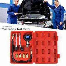 Petrol Engine Cylinder Compression Tester Kit Automotive Tool Gauge With Case