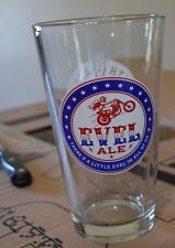 1-evel knievel evel ale 16 oz beer glasses ( READ DISCRIPTION)