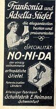 No-ni-dado que el ortopédico botas Heimann Schweinfurt anuncio 1913