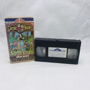 Rare VHS Tape SNOW WHITE Classic Stories MEL-0-TOONS Kids Klassics 1986 [Y70b]